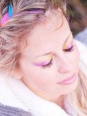 Beautiful woman with makeup — Stock Photo