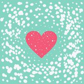 Big heart with dots in vector — Stock Vector