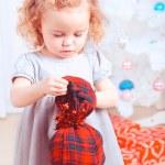 Girl opening gift — Stock Photo #36868183