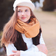 Teenage girl wearing winter clothes — Stock Photo #37860245