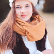 Teenage girl wearing winter clothes — Stock Photo