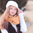 Teenage girl wearing winter clothes — Stock Photo #37860269