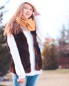 Girl outdoors — Stock Photo