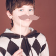 Stock Photo: Boy with mustache