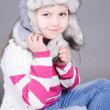 Little girl wearing hat — Stock Photo