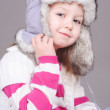 Cute girl wearing hat — Stock Photo