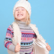 Girl wearing winter clothes — Stock Photo #40163803
