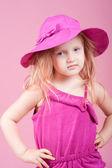 Little girl in hat — Stock Photo