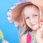Little girl with ice cream — Stock Photo #47126965