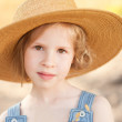 Girl wearing hat — Stock Photo #47778689