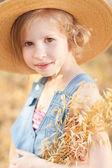 Kid girl wearing hat — Stock Photo