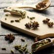 Cardamom and anise stars — Foto Stock