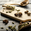 Cardamom and anise stars — Stockfoto