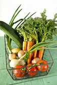 Composition of fresh vegetables — Stock Photo