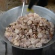 Stir fried pork. — Stock Video