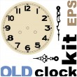 Old clock face vector kit — Stock Vector #32057513