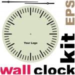 Old clock face vector kit — Stock Vector