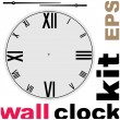 Old clock face vector kit — Stock Vector #32057565
