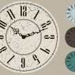 Old clock face vector kit, four color options — Stock Vector #32057773