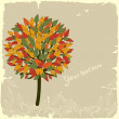 Abstract autumn tree — Stock Vector