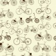 Vector de stock : Bicycles, seamless pattern