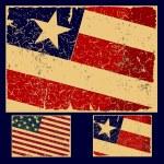 American grunge flag, retro series. — Stock Vector