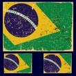 Old grunge flag of Brazil state, retro series.  — Imagen vectorial