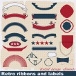 Retro ribbons and labels. — Stock Vector