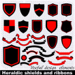 Heraldic shields and ribbons. — Stock Vector #32058713