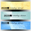 Set of technology banner for designing — Imagen vectorial
