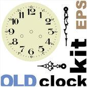 古い時計の顔のベクトル キット — ストックベクタ
