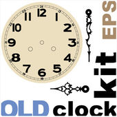 Old clock face vector kit — Stock Vector