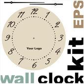 Antigo kit de vetor de cara de relógio — Vetor de Stock