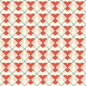 Hjärtan abstrakta sömlösa mönster, bakgrund. — Stockvektor
