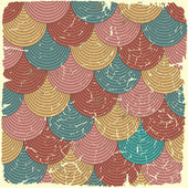 Retro seamless pattern on vintage old paper. — Stock Vector