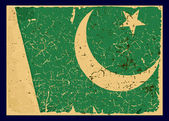 Grunge Flag of Pakistan, retro series. — Stock Vector