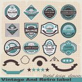 étiquette rétro et vintage. — Vecteur