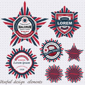 Vintage And Retro label. Useful design elements — Stock Vector
