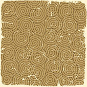 Retro seamless spirals pattern on vintage old paper. — Stock Vector