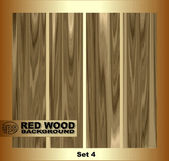 Realistic set of parquet boards of fine wood. — Stock Vector