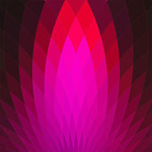 Background with bright pink geometric flower. — Stock Vector