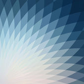 Background with bright blue geometric flower. — Vecteur