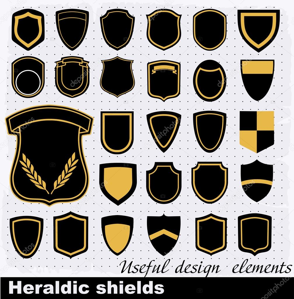 Set of four hand drawn knight armor with cape Vector
