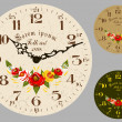 Folk Art. Antique wall clock — Stok Vektör