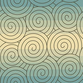 Abstract seamless spirals pattern, background. — Stock Vector