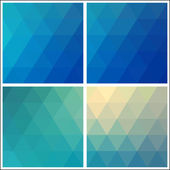Geometric pattern made triangles. Flow of the spectral blue light. — Stock Vector