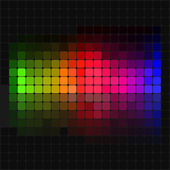 Multicolor abstract lights disco background — Vettoriale Stock