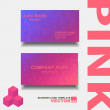 Pink Abstract creative business cards  — Stock Vector