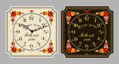 Retro wall clock — Stock Vector