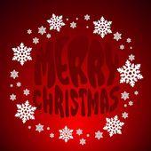 Weihnachten grußkarte. — Stockvektor
